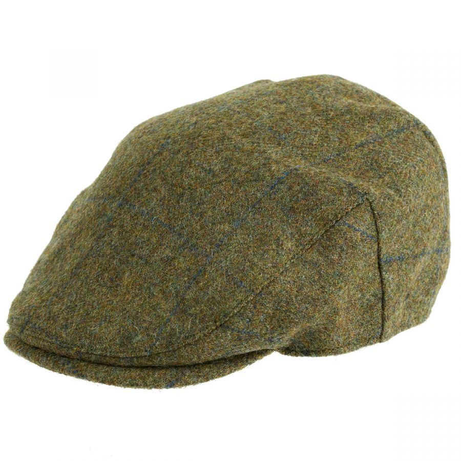Chapman Tweed Flat Cap Navy Over Check - Caps   Hats - Clothing ... ab3108003c1