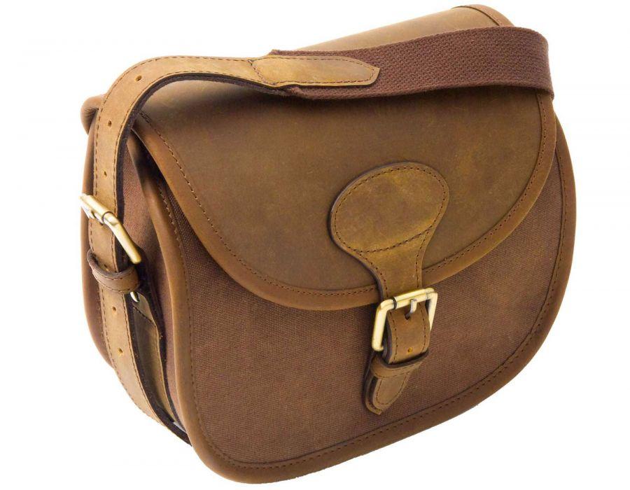 Heritage Leather   Canvas Cartridge Bag