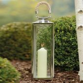 Glass Lanterns With Rope Handle