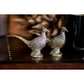 Silver Plated Salt & Pepper set Pheasant
