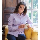 Ladies Lilac Small Check Shirt
