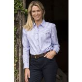 Ladies Cotton Check Shirt Pink/Blue