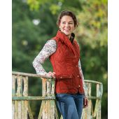 Baleno Ladies Quilted Gilet - Brick Red