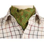 Classic Paisley Cravat - Green