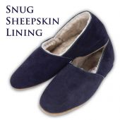Drapers' Anton Suede Slippers - Navy