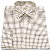 Hoggs of Fife Tattersall Shirt - Navy/Olive