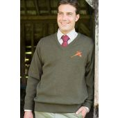 Quiltknit Shooting Sweater With Pheasant
