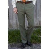 Alan Paine Compton Tweed Trousers - Lovat