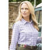 Alan Paine Bromford Ladies Shirt Purple Check