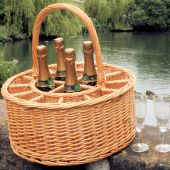 Celebration Champagne Basket with 12 free glasses