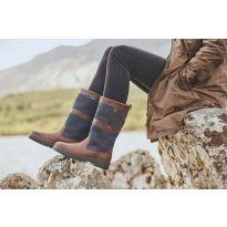 Dubarry Kildare Calf Height - Navy/Brown