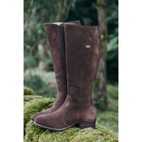 Dubarry Downpatrick Ladies Suede Knee High Boots - Cigar