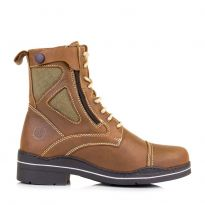 Kentucky Short Country leather and Corura Boots - Havanah