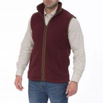 Alan Paine Aylsham Gents Fleece Gilet - Burgundy