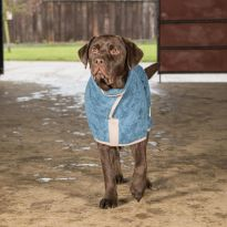 Classic Collection Dog Drying Coat - Sandringham Blue