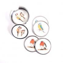 Garden Birds Coasters Set 6