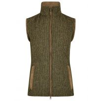 Dubarry Juniper Quilted Tweed Gilet with knitted panels Heath
