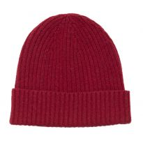 Lambswool Beanie Deep Red