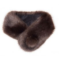 Faux Fur Pompom Button Collar Treacle