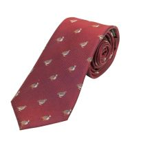 Woven Silk Tie Grouse and Partridge WIne