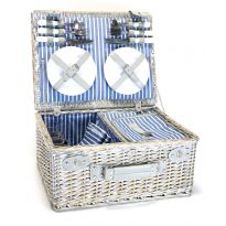 4 Person Luxury Wicker Picnic Basket