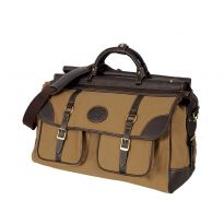Canvas and Dark Buffalo Leather Aymeric Shooting  Bag