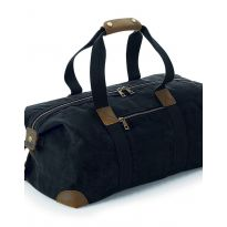 Heritage Waxed Canvas Holdall - Black