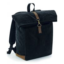 Heritage Waxed Canvas Back Pack - Black