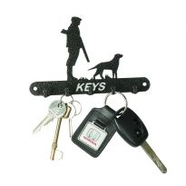 Gun Dog and Man Key Hook