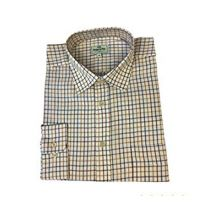 Hoggs of Fife Tattersall Shirt  Brown/Gold/Navy