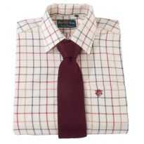 Alan Paine Ilkley Wide Check Shirt - Red