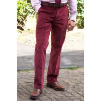 Midweight Pure Cotton Cords - Claret