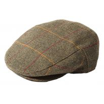 Dalness Waterproof Tweed Cap - Green