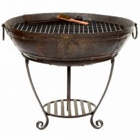 Kadai Fire Bowl with High Stand