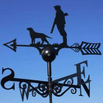 Weathervane Man and Dog