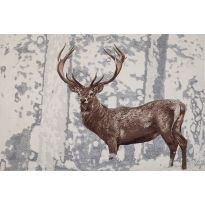 The Stately Stag on White Wall Tapestry