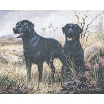 Black Labrador Wall Tapestry