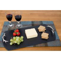 Slate Tray with Antler Handles