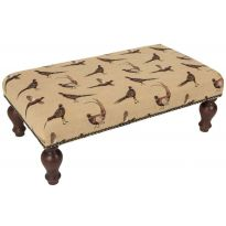 Country Pheasants Upholstered Stool