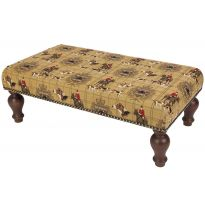 Hunting Trophy Upholstered Tapestry Stool