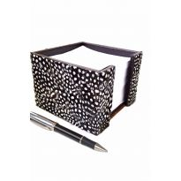 Feather Note Holder Guinea Fowl