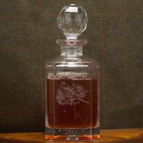 Pheasant & Partridge Engraved Decanter