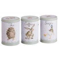 Wrendale Tea Coffee and Sugar Cannister Gift Set