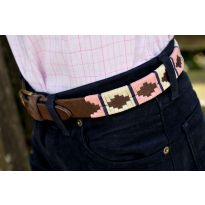 Ladies Polo Belt - Pink/Cream
