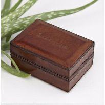 Leather Travel Cufflink Box