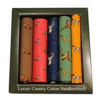 Boxed Hankies Country Animals