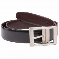 Reversible Black/Brown Leather Belt