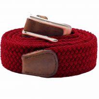 Stretch Corded Belts - Burgundy