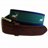 Leather and Canvas Belt Stag