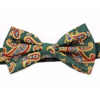 Silk Bow Ties Paisley-Green